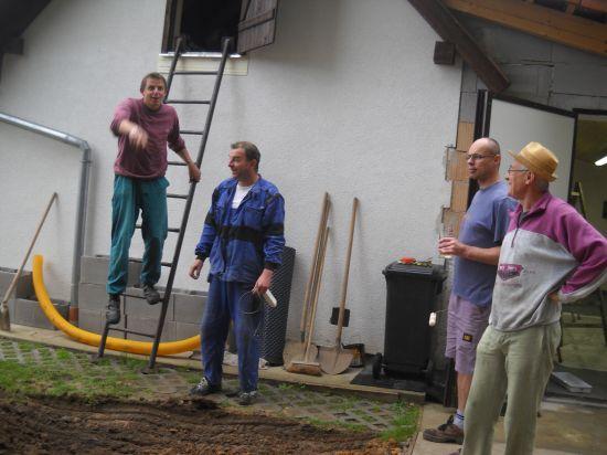 Úprava  terénu u hasičárny